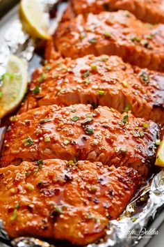 Honey Sesame Salmon In Foil is ready in under 20 minutes! Full of Asian flavours with ingredients you have in your kitchen, and so easy to pull together!