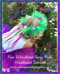 Woodland Fairy Halo Headband Tutu Tulle Rosette Flower