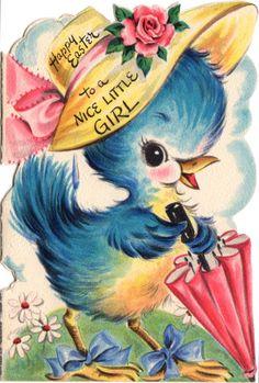 Bluebird Easter card