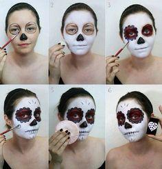 Halloween candy skull costume makeup