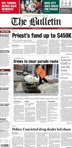 Thursday, March 5, 2015 - Subscribe to The Bulletin today: http://www.norwichbulletin.com/subscribenow #ctnews #newlondoncounty #windhamcounty