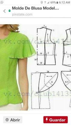 Блузка с крылышками.