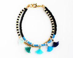 Perline braccialetto ologramma braccialetto perline Multi Strand braccialetto perline nappa braccialetto migliore amico regalo delicato