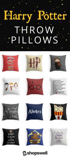 your geek on and channel the wonderful world of Harry Potter into your home decor with these fantastic throw pillows.Get your geek on and channel the wonderful world of Harry Potter into your home decor with these fantastic throw pillows. Harry Potter Fiesta, Décoration Harry Potter, Classe Harry Potter, Fans D'harry Potter, Harry Potter Bedroom, Harry Potter Pillow, Harry Potter Products, Harry Potter Gadget, Harry Potter Things