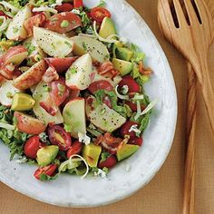 Cobb Potato Salad | Adding potatoes to cobb salad makes it hearty and satisfying, and a blue cheese vinaigrette adds just the right amount of tangy flavor. | #Recipes | SouthernLiving.com