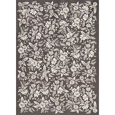 Slate & White Blooms Lace Wrapping Paper           The Paper Source                $5.95