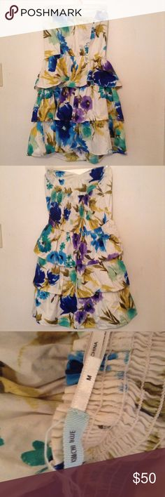 Urban Outfitters Floral Dress Beautiful, artsy dress with ruffles. Urban Outfitters Dresses Strapless