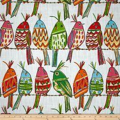 Richloom's Sitting Pretty Artsy Birds,  Curtain Panels or Valances -  Custom, Made To Order by cozyupkc on Etsy