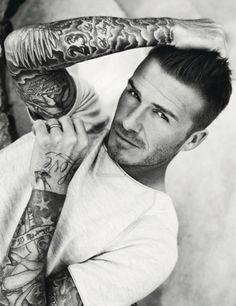 David Beckham #tattoo My mom will 'forgive' him all the wacky hair-dos, but the tatts are a deal breaker... me? Oh I LOVE them! All of them!