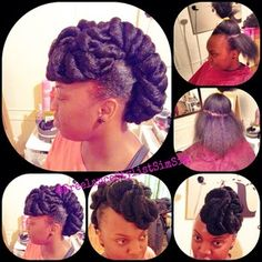SimSim-Natural Hair Innovator @freelancestylistsimsim Instagram photos | Webstagram - the best Instagram viewer Natural Hair Updo, Natural Hair Styles, Protective Hairstyles For Natural Hair, Style Hair, Protective Styles, Updos, Curly, Board, Nature