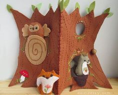 My newest felt sewing pattern is here! This is the most epic pattern I've created and it is so much fun to make. I'm thrilled that it is finished and I can finally share it with you!  This cute treeho