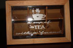 Caja de Té en bambú, grabado en acido para cristal. craftmania2014@gmail.com