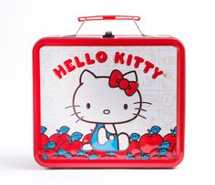 Hello Kitty Metal Lunch Box: Apples