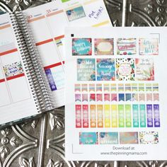 Dress up your planner with these beautiful free printable watercolor planner stickers, including inspirational quotes, to do lists, checklists, bunting flags, and more!  Both a free printable image…