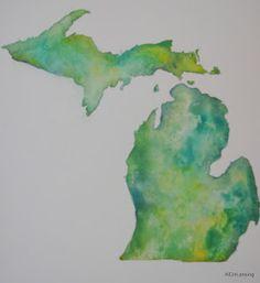 watercolor Michigan