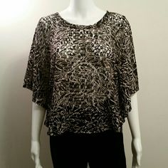 NWT Style&Co Black and Beige Sheer Batwing Top NWT Style&Co Black and Beige Sheer Batwing Top Retail $46 Style&Co  Tops Blouses