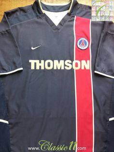 f38adad767e71 Relive Paris Saint-Germain s 2002 2003 season with this vintage Nike home football  shirt