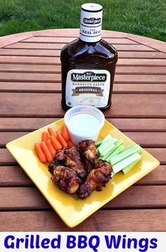 Grilled BBQ Wing 3 Ingredient