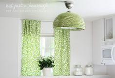 Ikea | BOJA Pendant light | Spray painted green