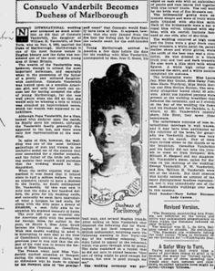Consuelo Vanderbilt Becomes A Duchess
