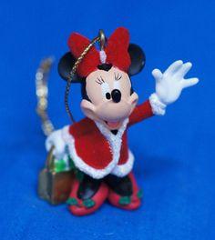 Disney Parks Minnie Mouse Christmas Shopping Ornament Figurine #DisneyParksExclusive #ChristmasOrnament