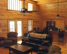 Cedar planks walls in living rooms | Pine Paneling * Knotty Pine Paneling Prices and Pictures