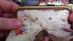 How to make a coin purse with metal clasp.  I need to repair one of these so this is a definite to do.