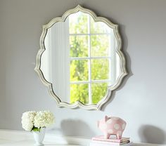 Silverleaf Petal Mirror | Pottery Barn Kids {{Whenever this goes on sale, KT's room}}
