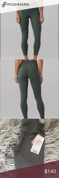 """Align Pant II 25"""" dark forest New with tag. Size 4. Sold out. Price is firm lululemon athletica Pants Leggings"""