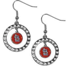St. Louis Cardinals Rhinestone Hoop Earrings