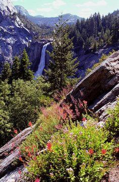 Nevada Falls, Yosemite National Park; photo by Alan Lenk