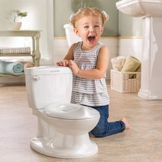 Summer My Size Potty, White – Realistic Potty Training Toilet Looks and Feels Like an Adult Toilet – Easy to Empty and Clean #baby  #babyregistry #babyessentials #WhatBabiesLove #babyproducts #babymusthave #pregnantdogideas #diapers # babies #newmoms  #parentingtips  #moneysaving  #baby  #pregnancy #mom #toys
