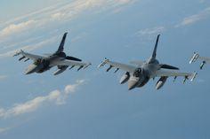USAF F-16s.