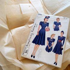 vintage simplicity sewing pattern 3302
