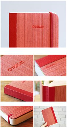 red wood notebook