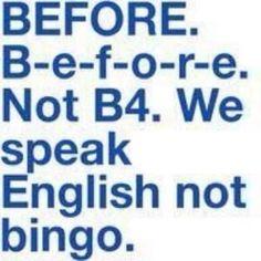 I love this! English, not Bingo... haha!