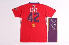 Men's NBA #42 Love 2014 All Star Game Signature Jersey