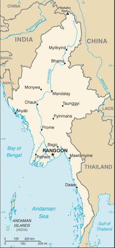 Country of Burma Map