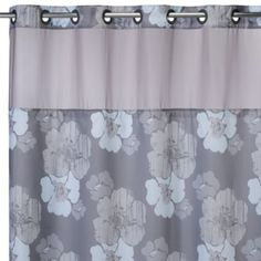 HooklessR 71 Inch X 74 Hibiscus Floral Shower Curtain And Liner In