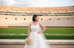 #wedding portraits in the Clemson stadium!