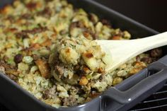 Moist, Delicious Sausage Dressing: Sausage Stuffing or Dressing