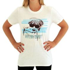 Taylor Swift White Glasses Tee : T-Shirts