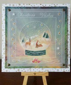 Christmas Deer, Christmas Wishes, Christmas Cards, Xmas, Barbara Gray, Parchment Cards, Christmas Printables, Card Ideas, Card Making