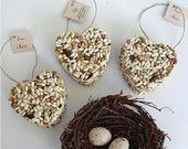 50 Bird Seed Heart Wedding Favors, Free Personalized Tags And Table Display Sign…