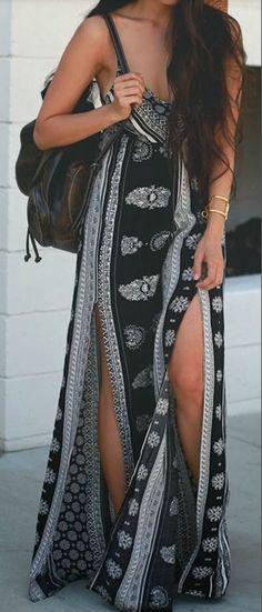 Double Split Maxi Dress