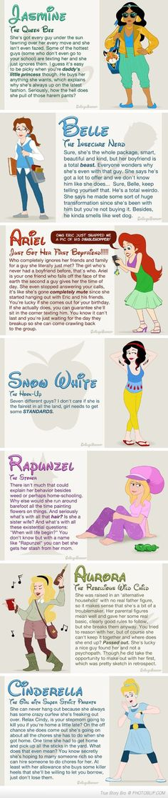 If Disney Princesses Went To Highschool