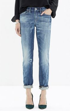 Madewell The Slim Boyjeans in Akiva Wash // #Shopping