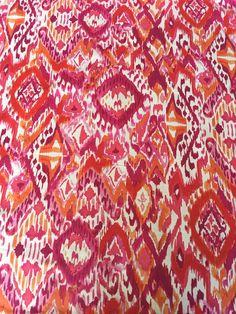 Painterly Ikat Cotton Print - Sew Much Fabric