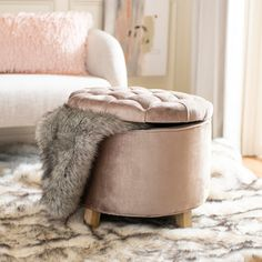 Complete your living room, family room, sitting area or den with this Safavieh Amelia Mink Brown Storage Ottoman. Brown Storage Ottoman, Tufted Storage Ottoman, Antique Farmhouse, Tufting Buttons, Furniture Deals, Amelia, Living Room, Mink, Legs