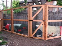 The secure run where the chickens live inside their Eglus. Inside Chicken Coop, Chicken Fence, Mobile Chicken Coop, Easy Chicken Coop, City Chicken, Portable Chicken Coop, Chicken Coop Plans, Building A Chicken Coop, Chicken Runs